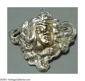 Silver Smalls:Other , AN AMERICAN SILVER & 14K GOLD ART NOUVEAU BROOCH