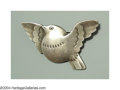 Silver Smalls:Other , A DANISH SILVER FIGURAL BIRD PIN