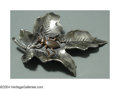 Silver Smalls:Other , AN AMERICAN MIXED METAL AESTHETIC MOVEMENT BROOCH