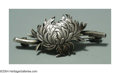 Silver Smalls:Other , AN AMERICAN SILVER AESTHETIC MOVEMENT CHRYSANTHEMUM BROOCH ...