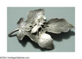 Silver Smalls:Other , AN AMERICAN SILVER AESTHETIC MOVEMENT BROOCH