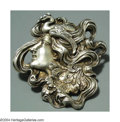Silver Smalls:Other , AN AMERICAN SILVER ART NOUVEAU BROOCH