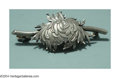 Silver Smalls:Other , AN AMERICAN SILVER AESTHETIC MOVEMENT CHRYSANTHEMUM BROOCH