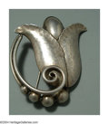 Silver Smalls:Other , AN AMERICAN SILVER DANISH STYLE BROOCH