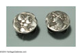 Silver Smalls:Other , A PAIR OF AMERICAN SILVER HOMERIC MEDALLION CUFF LINKS