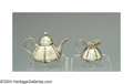 Silver Smalls:Other , AN AMERICAN SILVER MINIATURE TEA SET