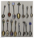 Silver Souvenir Spoons:Other , A GROUP OF FIFTEEN SOUVENIR SPOONS