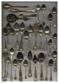 Silver Souvenir Spoons:Other , A GROUP OF THIRTY-TWO MISCELLANEOUS SILVER AND SILVER-PLATED ...(32 )