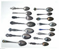 Silver Souvenir Spoons:Other , A GROUP OF FIFTEEN CANADIAN SILVER SOUVENIR SPOONS