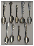 Silver Souvenir Spoons:Personalities, A GROUP OF NINE SILVER PERSONALITY SOUVENIR SPOONS