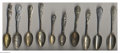 Silver Souvenir Spoons:Personalities, A GROUP OF TEN PERSONALITY SOUVENIR SPOONS