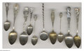 Silver Souvenir Spoons:Personalities, A GROUP OF TEN SILVER PERSONALITY SOUVENIR SPOONS