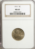 Liberty Nickels: , 1911 5C MS65 NGC. NGC Census: (155/22). PCGS Population (180/34).Mintage: 39,559,372. Numismedia Wsl. Price for NGC/PCGS c...