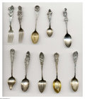 Silver Souvenir Spoons:Native American, A GROUP OF TEN NATIVE AMERICAN SOUVENIR SPOONS