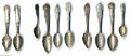 Silver Souvenir Spoons:Other , A GROUP OF ONE HUNDRED THIRTY SILVER STATE SOUVENIR SPOONS
