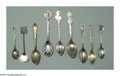 Silver Souvenir Spoons:Other , A GROUP OF FIFTEEN SILVER SOUVENIR SPOONS