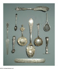 Silver Flatware, American:Other, AN ASSORTED GROUP OF AMERICAN SILVER FLATWARE