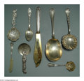 Silver Flatware, American:Other, AN ASSORTED GROUP OF SEVENTY-SIX AMERICAN SILVER SPOONS
