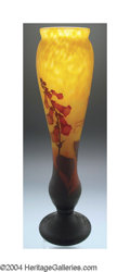 Art Glass:Daum, A MONUMENTAL OVERLAID AND ETCHED GLASS VASE