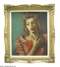 Fine Art - Painting, American:Modern  (1900 1949)  , MOSES SOYER (American 1899-1974)
