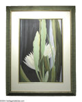 Paintings, LEON V. CARROLL (American 1887-1937). Night Blooming Cirrus, c. 1925. Watercolor and gouache on brown paper. 25.25in. x 16.7...