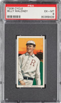 Baseball Cards:Singles (Pre-1930), 1909-11 T206 Cycle 350 Bill Maloney PSA EX-MT 6 - Pop Two, None Higher for Brand. ...