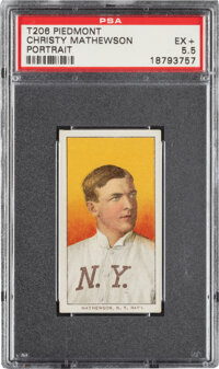 1909-11 T206 Piedmont 350 Christy Mathewson (Portrait) PSA EX+ 5.5 - Pop One, Only Two Higher for Brand/Series