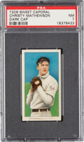 Baseball Cards:Singles (Pre-1930), 1909-11 T206 Sweet Caporal 350/25 Christy Mathewson (Dark Cap) PSA NM 7 - Pop One, None Higher for Brand/Series! ...