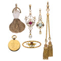 Estate Jewelry:Lots, Antique Multi-Stone, Gold Jewelry. ... (Total: 6 Items)
