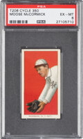 Baseball Cards:Singles (Pre-1930), 1909-11 T206 Cycle 350 Moose McCormick PSA EX-MT 6 - Pop One, None Higher for Brand/Series. ...