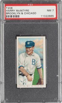 1909-11 T206 Sweet Caporal 350/30 Harry McIntyre (Brooklyn & Chicago) PSA NM 7 - Pop One, Only One Higher for Brand/...