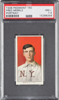 Baseball Cards:Singles (Pre-1930), 1909-11 T206 Piedmont 150 Fred Merkle (Portrait) PSA NM+ 7.5 - Pop One, Only Two Higher for Brand/Series. ...