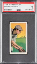 Baseball Cards:Singles (Pre-1930), 1909-11 T206 Sovereign 350 George Moriarty PSA EX 5. ...