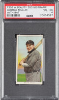 Baseball Cards:Singles (Pre-1930), 1909-11 T206 American Beauty 350-Without Frame George Mullin (With Bat) PSA VG-EX 4 - Pop One, Only One Higher for Brand/Seri...
