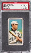Baseball Cards:Singles (Pre-1930), 1909-11 T206 Old Mill Danny Murphy (Batting) PSA EX-MT+ 6.5 - Pop One, None Higher for Brand. ...