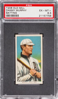 1909-11 T206 Old Mill Danny Murphy (Batting) PSA EX-MT+ 6.5 - Pop One, None Higher for Brand