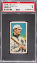 Baseball Cards:Singles (Pre-1930), 1909-11 T206 Tolstoi Danny Murphy (Batting) PSA VG 3 - Pop Three, Only Two Higher for Brand. ...