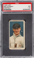 Baseball Cards:Singles (Pre-1930), 1909-11 T206 Uzit Red Murray (Portrait) PSA Fair 1.5 - The Only Confirmed PSA-Graded Example!...
