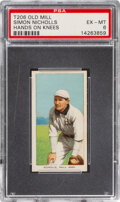 Baseball Cards:Singles (Pre-1930), 1909-11 T206 Old Mill Simon Nicholls (Hands On Knees) PSA EX-MT 6 - Pop Three, None Higher for Brand. ...