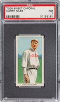 Baseball Cards:Singles (Pre-1930), 1909-11 T206 Sweet Caporal 350/30 Harry Niles PSA NM 7 - Pop Two, None Higher for Brand/Series/Factory. ...