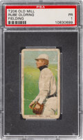 Baseball Cards:Singles (Pre-1930), 1909-11 T206 Old Mill Rube Oldring (Fielding) PSA Poor 1 - Only Five Confirmed PSA-Graded Examples!. ...