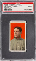 Baseball Cards:Singles (Pre-1930), 1909-11 T206 Sweet Caporal 350/25 Charley O'Leary (Portrait) PSA NM 7 - Pop One, None Higher for Brand. ...