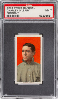 1909-11 T206 Sweet Caporal 350/25 Charley O'Leary (Portrait) PSA NM 7 - Pop One, None Higher for Brand