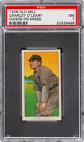 Baseball Cards:Singles (Pre-1930), 1909-11 T206 Old Mill Charley O'Leary (Hands On Knees) PSA NM 7 - Pop Two, None Higher for Brand. ...