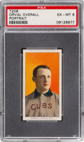 Baseball Cards:Singles (Pre-1930), 1909-11 T206 Piedmont 150 Orval Overall (Portrait) PSA EX-MT 6 - Only Two Higher for Brand/Series. ...