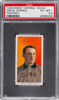 Baseball Cards:Singles (Pre-1930), 1909-11 T206 Sweet Caporal 150/30 Orval Overall (Portrait) PSA EX-MT+ 6.5 - Pop One, Only One Higher for Brand. ...