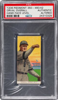 Baseball Cards:Singles (Pre-1930), 1909-11 T206 Piedmont 350-460/42 Orval Overall (Hand Face Level) PSA Authentic - Only Five Confirmed Factory 42 backs. ...
