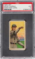 Baseball Cards:Singles (Pre-1930), 1909-11 T206 Uzit Orval Overall (Hand Face Level) PSA VG 3 - The Only Confirmed Uzit back!...