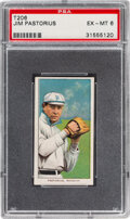 Baseball Cards:Singles (Pre-1930), 1909-11 T206 Sweet Caporal 150/30 Jim Pastorius PSA EX-MT 6 - Pop One, None Higher for Brand. ...