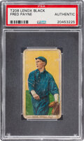 Baseball Cards:Singles (Pre-1930), 1909-11 T206 Lenox - Black Fred Payne PSA Authentic - Only Three Confirmed with Brand! ...